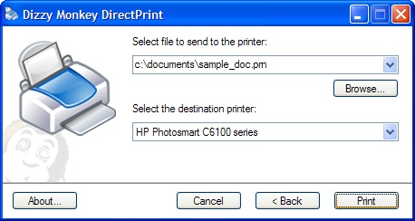 Click to view Dizzy Monkey DirectPrint 1.3 screenshots